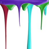 Nalévání více barevných barvy — Stock fotografie
