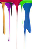 Dripping Paint in multiple colors — Stock Photo
