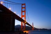 Golden Gate bridge at nigh — Stock Photo