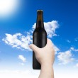 Hand holding beer bottle — Stock Photo #39699139