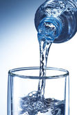 Water Pour into Glass — Stock Photo