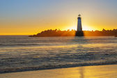 Lighthouse at sunset — Stock Photo