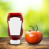 Ketchup with tomato — Stock Photo