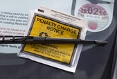 Parking penalty notice — Stock Photo