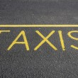 Taxis road markings — Stock Photo