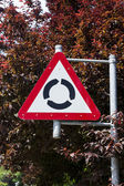 Roundabout Sign — Stock Photo