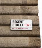 Regents Street sign — Stock Photo