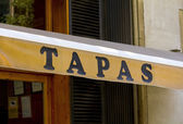Sign for Tapas — Stock Photo