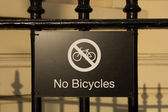 No Bicycles sign — Stock Photo
