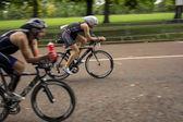 Cyclists racing — Stock Photo