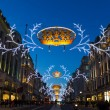 Stock Photo: Regent Street Christmas lights 2013