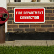 Fire department connection — Stock Photo