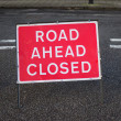 Stock Photo: Road Closed Ahead