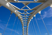 Humber Bridge arch closeup — Stock Photo