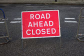 Road Closed Ahead — Stock Photo