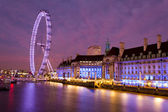 London Eye in the early evening — Stock Photo