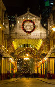 Leadenhall Market at christmas — Stock Photo