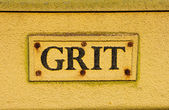 Grit container extreme closeup — Stock Photo