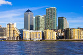 Canary Wharf in London from the West — Stock Photo