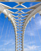 Closeup to part of the arch of the Humber Bay Bridge — Stock Photo