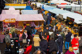 High view of stalls at Camden Foo — Stock Photo