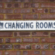 Stock Photo: Changing Rooms Sign
