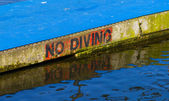 No Diving message — Stock Photo