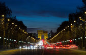 Arc de Triomphe and traffic — Stok fotoğraf