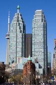 Flatiron, CN Tower and TD Towers — Stock Photo