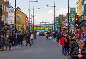 LONDON, UK - 1ST MARCH 2014: Camden Town during the day with lot — Stock Photo
