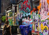 Toronto grafitti gränd — Stockfoto