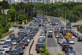 Heavy Traffic in Toronto — Stock Photo