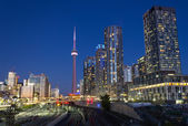 Toronto Condos and the CN Tower — Stock Photo