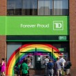 Rainbow around TD Bank ATMS — Stock Photo #48743587