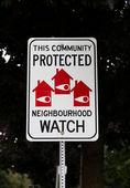 Neighbourhood Watch Sign — Stock Photo