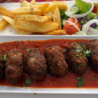 Stock Photo: Cypriot food-keftedes (meatballs in sauce)