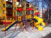 Playground winter — Foto Stock