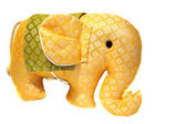 Toy orange patterned fabric elephant from Thailand — Foto Stock
