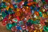 Colored Crystal Rhinestones as background — Stockfoto