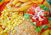 Mexican cuisine - a side dish of vegetables and rice — Stock Photo