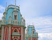Tower of the royal palace in Tsaritsyno in Moscow — Stock Photo