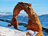 Delicate Arch in Snow — Stock Photo