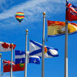 Stock Photo: Canadand its provincial flags