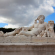 Paris - Statue from Tuileries garden near Louvre — Stock Photo