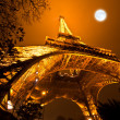 Ceremonial lighting of the Eiffel tower in Paris, France — Stock Photo