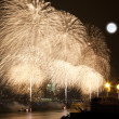 Stock Photo: The July 4th firework over Hudson Rive