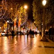 champs elysees illuminated with christmas light — Stock Photo