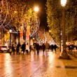 Stock Photo: Champs Elysees illuminated with Christmas light