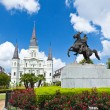 Saint Louis Cathedral and statue of Andrew Jackson — Stock Photo #29364701