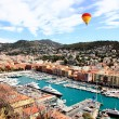 Aerial view of the city of Nice France — Stock Photo